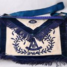 1955 Freemason Masonic Apron Worshipful Master WM Temple City California Vintage