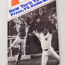 1977 NEW YORK YANKEES MEDIA GUIDE - WORLD SERIES CHAMPIONS - MLB '77