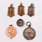 1950/51 San Diego Metropolitan Running Track Medal Trophy Award Charm Pendant