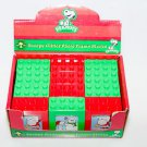 SNOOPY Glitter Photo Frame Blocks Lego Lot of 12 in Box PEANUTS ROMAN CHRISTMAS