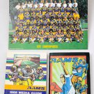 1979 Los Angeles Rams Team Photo + 1988 & 1992 Media Guide Lot NFL VTG L.A.