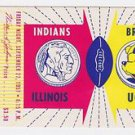 Ticket Stub Illinois Indians Vs UCLA Bruins September 27, 1957 LA Coliseum