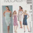 McCall's Pattern 3635  2 pc Dresses Top Skirt Size AAX  4 6 8 10  Uncut
