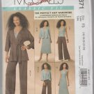 McCall's Classic Fit M5671 Jacket Belt Top Pants Dress Size F5 16 18 20 22 24