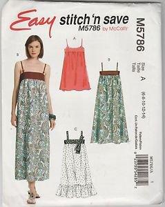 Easy Stitch n Save McCalls M5786  Jumper Dress Pattern Size A  6 8 10 12 14