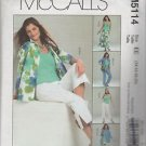 McCall's M5114 Select a Size Shirt Jacket Pants Skirt Size EE 14 16 18 20