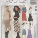 McCall's 3296 Pull On Bias Skirt w Straight Fishtail Back Size AAX  4 6 8 10