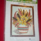 WonderArt 5282 FALL BOUQUET Embroidery Kit   NIP