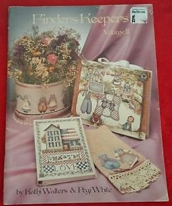 Finders Keepers Vol 2 Tole Painting Pattern Book Primitive Pegi White
