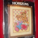 1982 Monarch Horizons Needlecraft Longstitch Kit LS 64 AND BABY MAKES THREE NIP