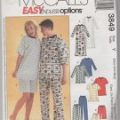 McCall's Easy Endless Options 3849 Pajama Pattern Size Y  x small small medium