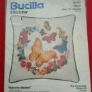 Bucilla Stitchery Butterfly Medley Crewel Pillow Kit  NIP