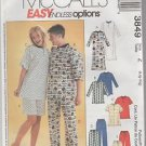 McCall's Easy Endless Options 3849 Pajama Pattern Size Z  Large X Large