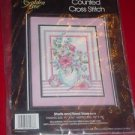 Golden Bee 60278 SHELLS AND FLORAL VASE Counted Cross Stitch Kit  NIP