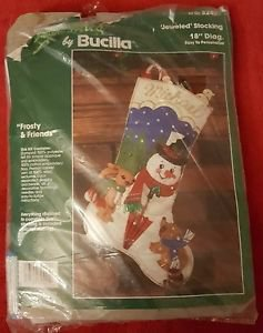 Bucilla Christmas FELT Stocking Frosty & Friends NIP