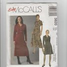 Easy McCall's 3820 Ms Ms Petite Dresses 2 Lengths Size FF  16 18 20 22
