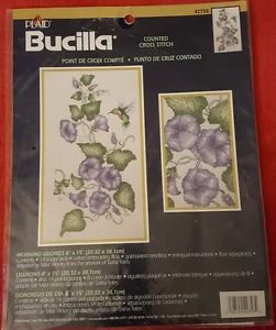 Bucilla Morning Glories with Hummingbird Counted Cross Stitch Kit