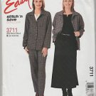 Easy Stitch n Save McCalls 3711 Shirt Top Pants Skirt Pattern Size B 16 18 20 22