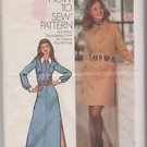 Vintage Simplicity 5149 Teen Misses Shirt Dress Pattern Size 12