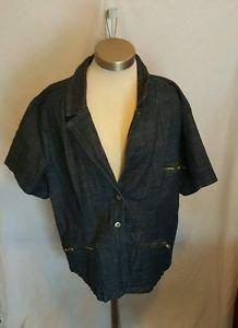 Just Blu Jeans Denim Jean Jacket size 28W