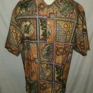 Tori Richard Floral Coconut Multi Color Cotton Lawn Camp Shirt Size Large