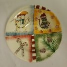 Pfaltzgraff HOLIDAY MAGIC Soup Bowl  Christmas Snowman Candy Canes