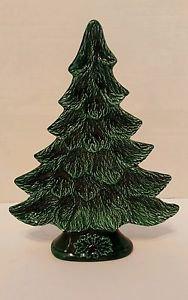 "Vintage 1981 Nowells Mold Ceramic Christmas Tree Nut Candy Dish 11.5"""