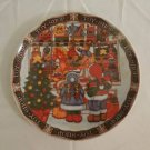 Royal Norfolk  The Village Toy Shop  Christmas  Salad Plate Decorative