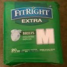 Medium Fit Right Briefs Extra Adult Diapers Underwear Size M Men Women 20 Count