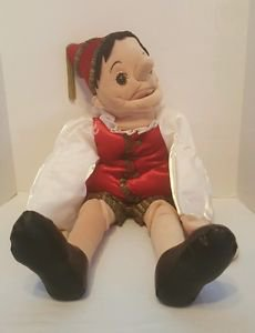 Folkmanis Pinocchio Two Handed Full Body Puppet  RARE  Nose Grows!!!