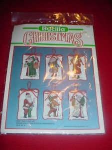 Bucilla Old Time Santas 82633 Christmas Counted Cross Stitch Kit Set of 6 NIP