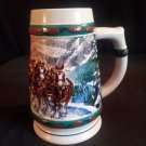 1993 BUDWEISER Holiday Beer Stein Collection Special Delivery  Vintage