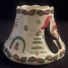 2009 YANKEE CANDLE Christmas Penguins Igloos Candle Shade HTF Retired Item