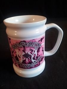 Harley Davidson Pink & White Mug - Official Licensed Product - 12 / 2012