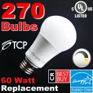 (270) LED Soft White 60W DIMMABLE ~Free Shipping~ 9.5W (60 Watt Equivalent) 2700K A19 Light Bulbs