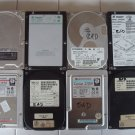 Lot of 8 IDE Hard Drives 170MB to 1.2GB (As-Is)