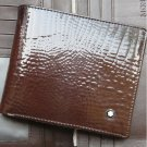MB Brown Shining Leather Wallet 06CC