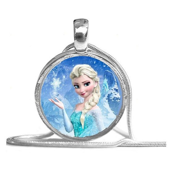 Custom Boutique Disney Frozen Glass Pendant Necklace - You choose the image!
