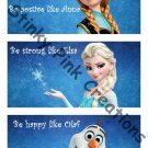 Frozen Collage Room Decor Wall Hanging - Digital File - You print as many as you want!