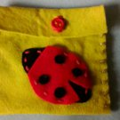 Goodluck ladybird feltbag