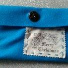 Vintage blue merry christmas feltbag.