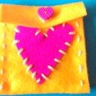 Yellowpink feltbag