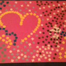Confettipicture pink with heart and flower