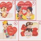 #50 Lot of four children's  valentine cards