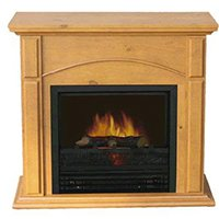 Electic Oak Fireplace