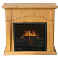 Electic Oak Fireplace