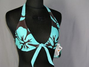 SPEEDO Bikini Halter TOP S Small 4 6 New Womens Swim Bathing Suit