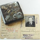 Polish silver and GOLD cigarette case made in Russia 1908, stamped + owner's ID