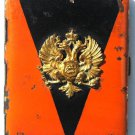 original RUSSIAN IMPERIAL CIGARETTE case - ST. VLADIMIR w. badge emblem