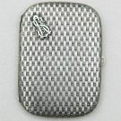 rare German WW2 silver cigarette case with monogram gilded, famous popular style